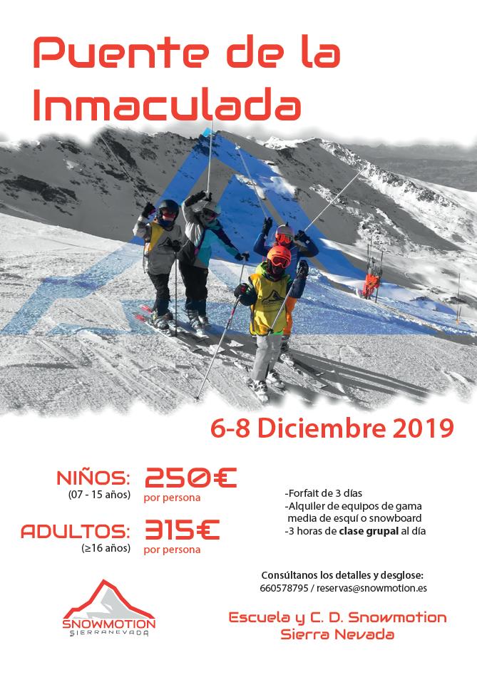 Curso de esquí o snow - Puente de la Inmaculada, Diciembre 2019 - Sierra Nevada